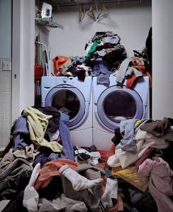 Overflowing of dirty laundry